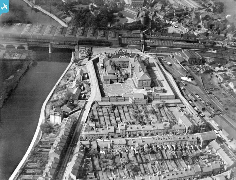 arial view of prison