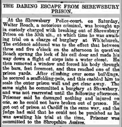 prison Leicester Chronicle - Saturday 20 November 1897