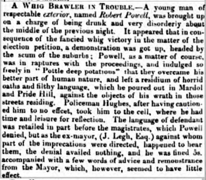 scum Eddowes's Journal, and General Advertiser for Shropshire, and the Principality of Wales - Wednesday 15th December 1847