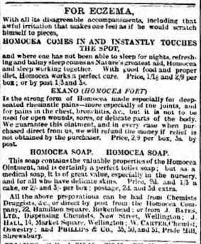 Eczema soap Wellington Journal - Saturday 04 May 1895
