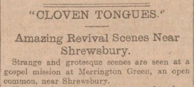 cloven tongues