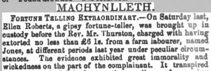 1866: Fortune teller tricks 'wicked man' – News From The Past