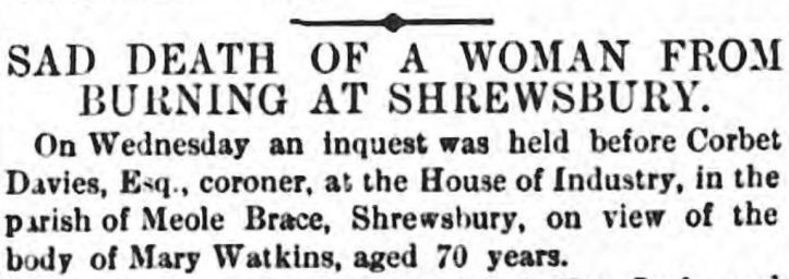 Wellington Journal - Saturday 22 May 1869 death
