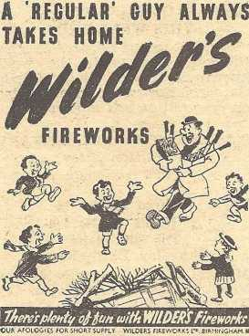 Wilders Advert - 1947 Retail - A Regular Guy Always Takes Home Wilders Fireworks