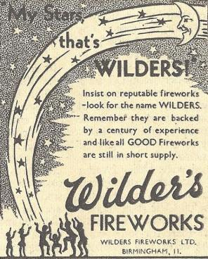 Wilders Advert - 1949 Retail - My Stars Thats Wilders