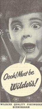 Wilders Advert - 1956 Retail - Oooh Must Be Wilders