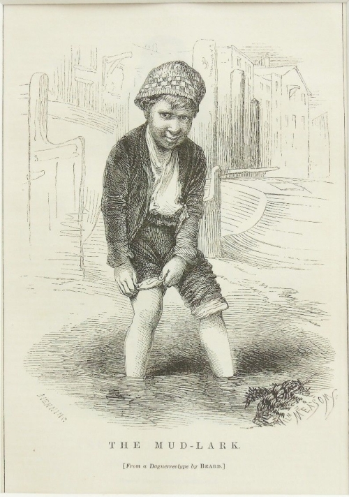 Mud-Lark-Mudlark-Victorian-London-c1880-Mounted-Antique