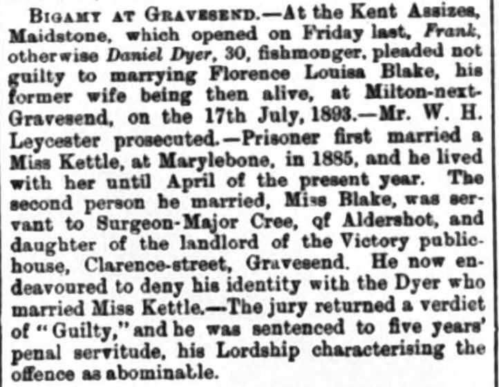 dyer gravesend reporter, north kent and south essex advertiser - saturday 25 november 1893