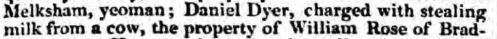 dyer wiltshire independent - thursday 11 january 1838