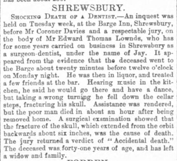 Oswestry Advertiser - Wednesday 31 January 1866