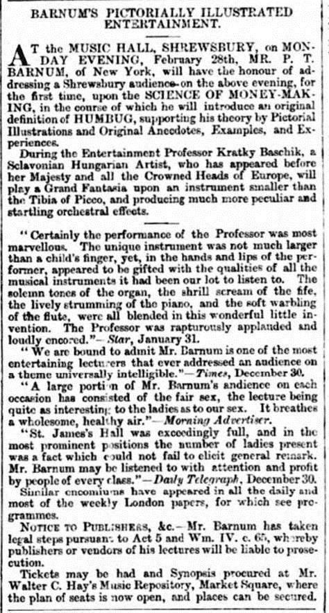 PT Barnum Eddowes's