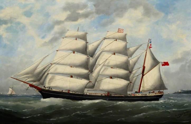Adam, Edouard Marie, 1847-1929; The Barque 'Victoria'