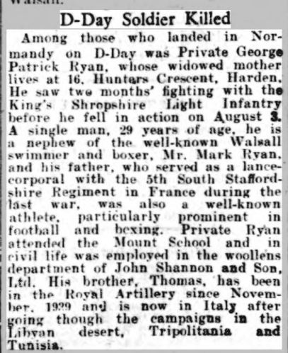 RYAN Walsall Observer, and South Staffordshire Chronicle - Saturday 19 August 1944