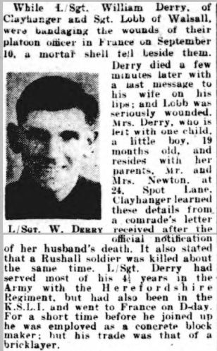 DERRY. Walsall Observer, and South Staffordshire Chronicle - Saturday 30 September 1944